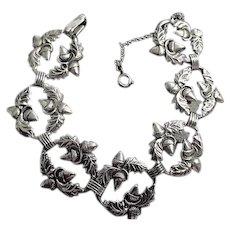 DANECRAFT Sterling Silver Acorn and Oak Leaf Bracelet