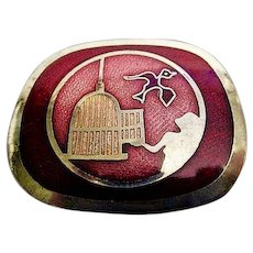 de Passille Sylvestre Modernist 'Set It Free' Enamelled Brooch