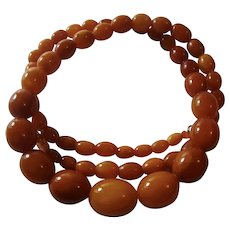 Genuine Baltic Butterscotch Amber Bead Necklace