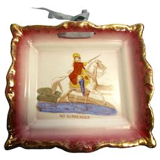 "1872 William lll ""No Surrender"" Square Wall Plate"