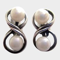 6 mm Cultured Pearl Sterling Silver Clip Earrings