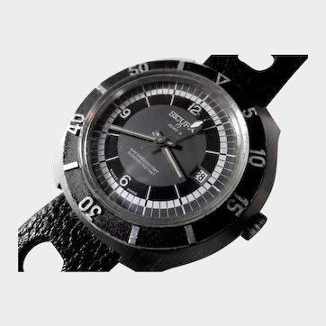 Vintage Sicura/Breitling Diver's Watch with Original Strap