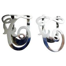 Birks Art Nouveau Sterling Silver Napkin Holders/Clips (Pair)