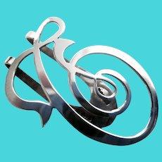 Apollo Art Nouveau Sterling Napkin Holder/Clip
