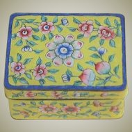 Vintage Enamel Chinese Two Piece Box