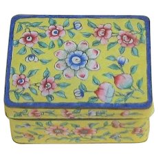 Vintage Enamel Chinese Two Piece Box