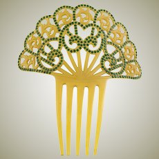 Show Stopping Art Deco Spanish Hair Comb