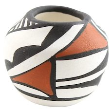 Vintage Southwestern Polychrome Miniature Pot