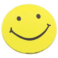 1960's Happy Face Large Pin