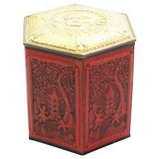 Vintage Chinese Themed Tea Tin