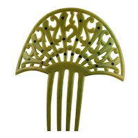 Light Green Celluloid Mantilla Comb