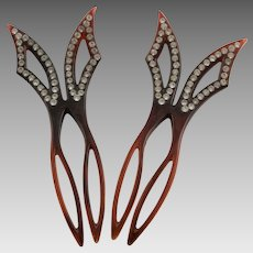 Two Beautiful Vintage Hair Combs