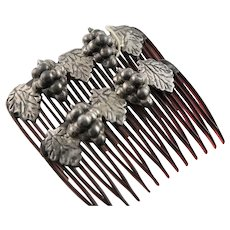 Signed Sterling Mid Century Hair Combs