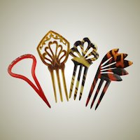 Combination Of Vintage Hair Combs