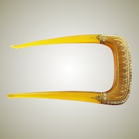 Spectacular Antique Two Prong Hair Comb