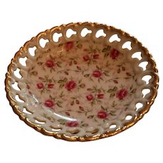Vintage Lefton Reticulated Bonbon Dish