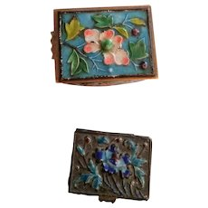 Two Tiny Chinese Enamel Boxes