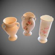 Three Vintage Flower Vases All Different