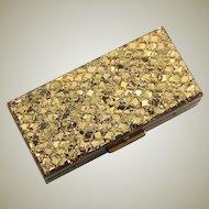 Vintage Glitter Lid Brass Box