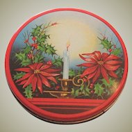 Vintage Christmas Lithograph Tin