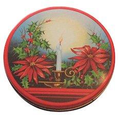 Vintage Christmas Lithograph Tin
