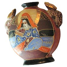 Small Colorful Japanese Geisha Vase