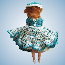 Hard Plastic With Hand Crocheted Dress Doll