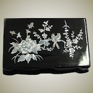 Asian Import Mother Of Pearl & Lacquer Box