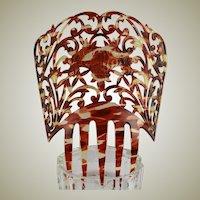 Large Spanish Victorian Mantilla Comb