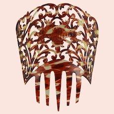 Spectacular Victorian Mantilla Comb