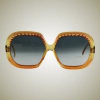 Vintage Christian Dior Amber Colored Sun Glasses