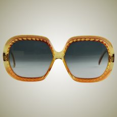 Vintage Christian Dior Amber Colored Sun Glasses