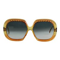 1980's Christian Dior Golden Brown Sunglasses