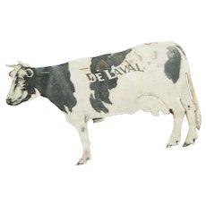 Vintage Tin Cow Advertisement Post Card