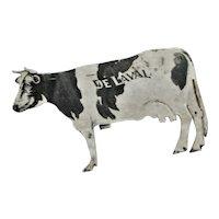 Black & White Cow Metal Advertising Post Card