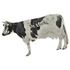 Black & White Cow Metal Advertising Post Card