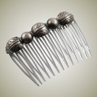 Pair of Vintage Sterling Silver Combs