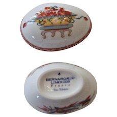 Vintage Bernardaud Limoges Egg Shaped Box