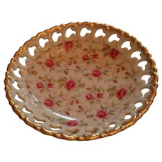 Vintage China Lefton Reticulated Bonbon Dish
