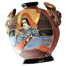 Small Japanese Geisha Colorful Vase
