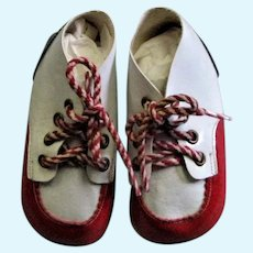 Darling Doll/Newborn Patent Red, White & Blue Shoes