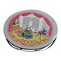 Lithographed Handled Picnic/Lunch Tin Box
