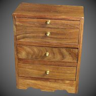 Vintage three Drawer Storage Box For Jewels
