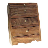 Three Drawer Oak Jewelry Box