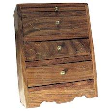 Three Drawer Oak Jewelry Box