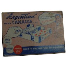 Vintage Mid Century Canasta Tray Rules Pamphlet