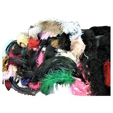 Large Box Of Multi Colors Feathers