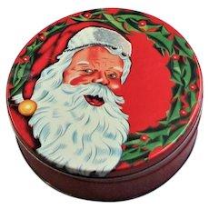 Christmas Santa 1950's Lithographed Tin