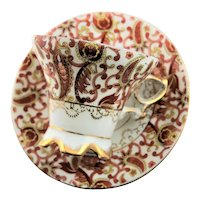 Paisley Design Stoneware Cup & Saucer