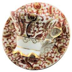 Paisley Design Stoneware Cup & Saucer